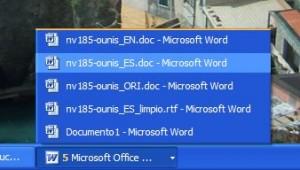 Varios documentos en varias ventanas